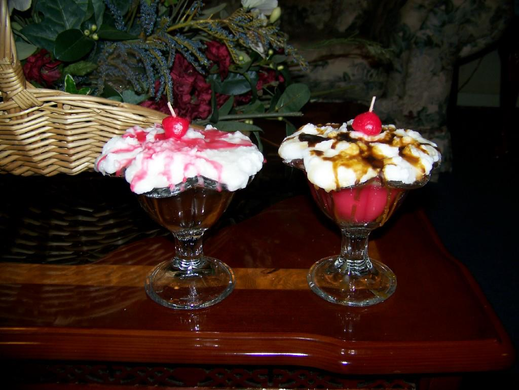 Ice Cream Sundae Candles Wide