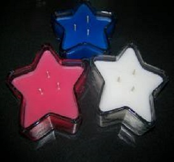 Star Container Candles